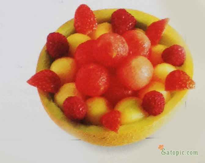 Mix the melon balls with other fruit and melon balls