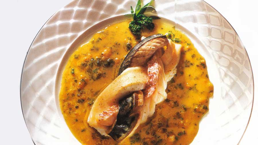 Steamed Fish Plaits with Warm Vinaigrette-calories-nutrition www.eatopic.com
