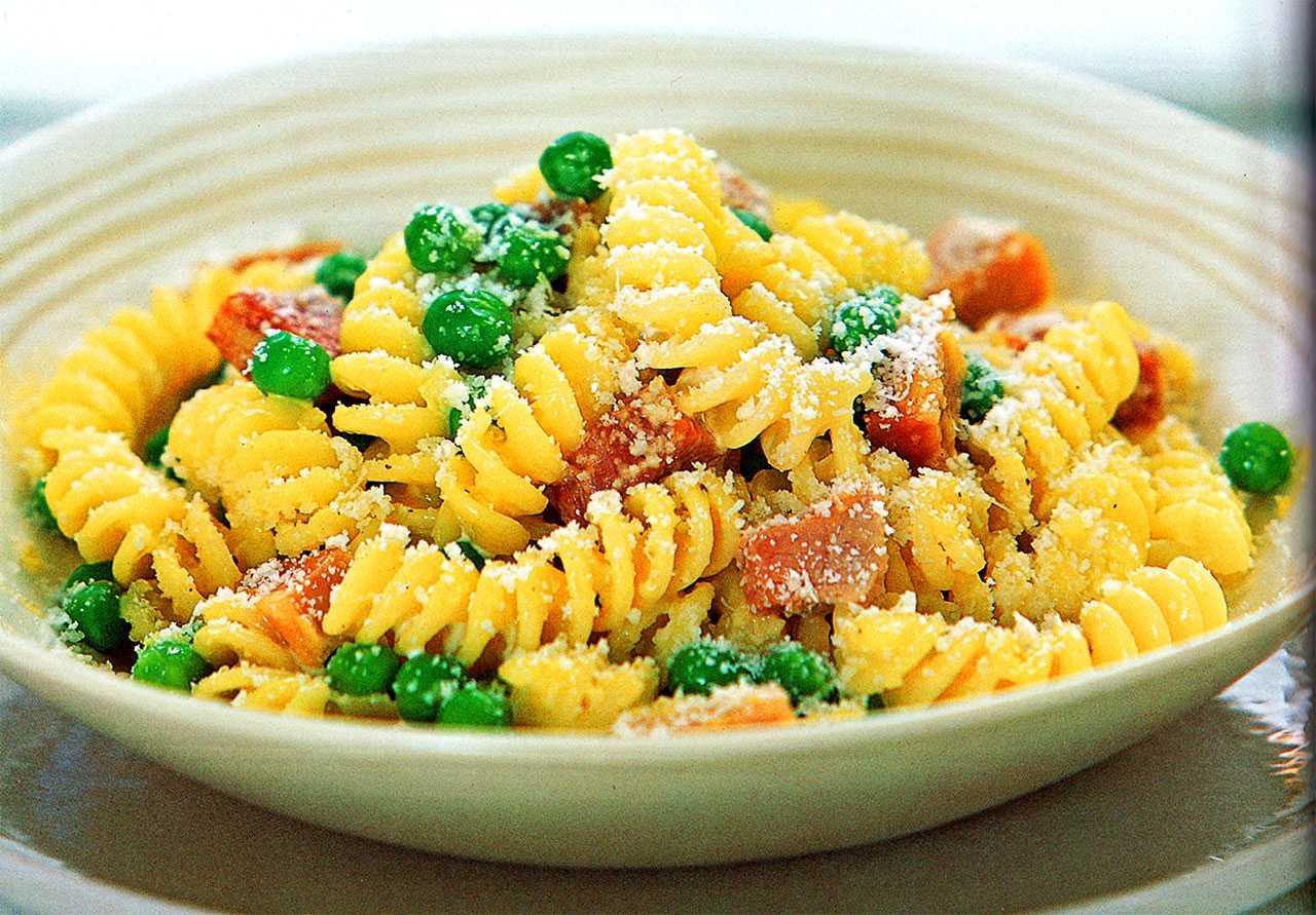 How to cook pea fusilli pasta-Ham And Pea Fusilli-Easy Pasta Recipe