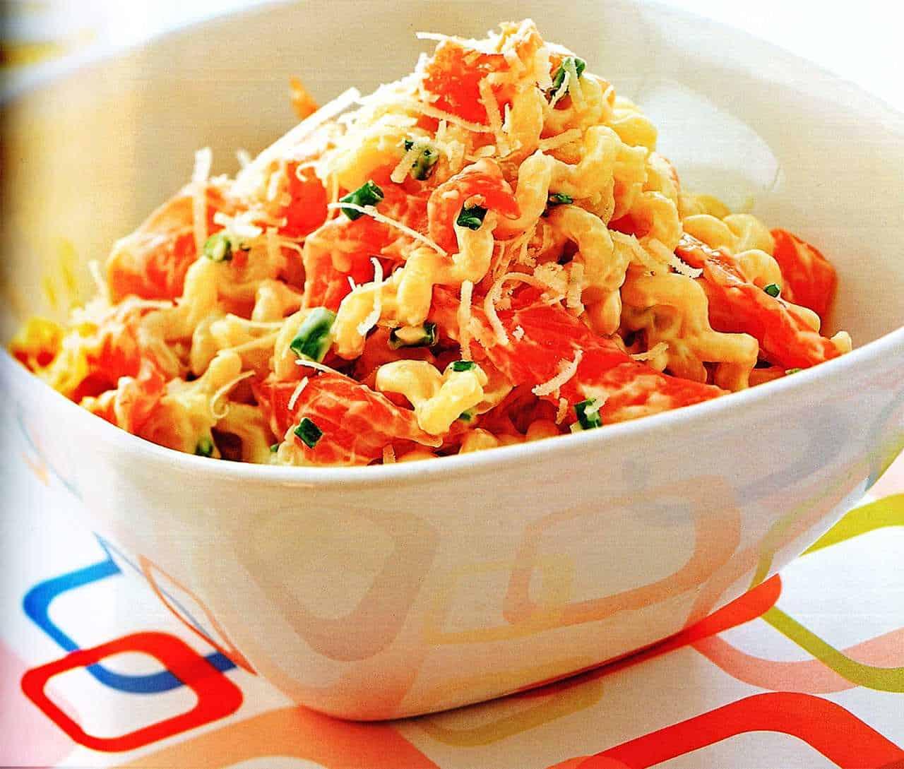 sauce for salmon cream pasta recipe-salmon and pasta recipe www.eatopic.com