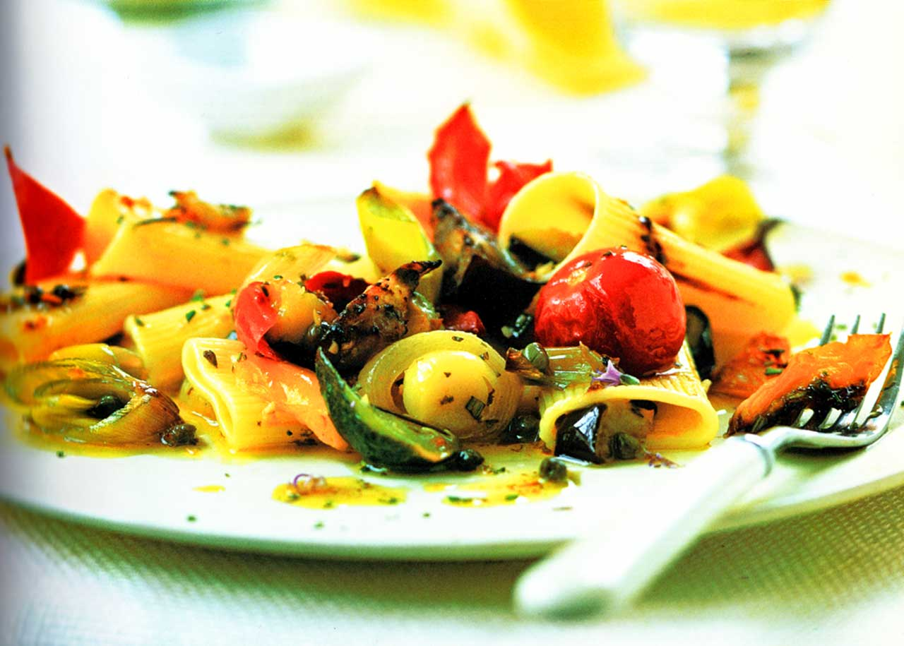 roasted vegetable pasta recipe-roasted cherry tomatoes pasta