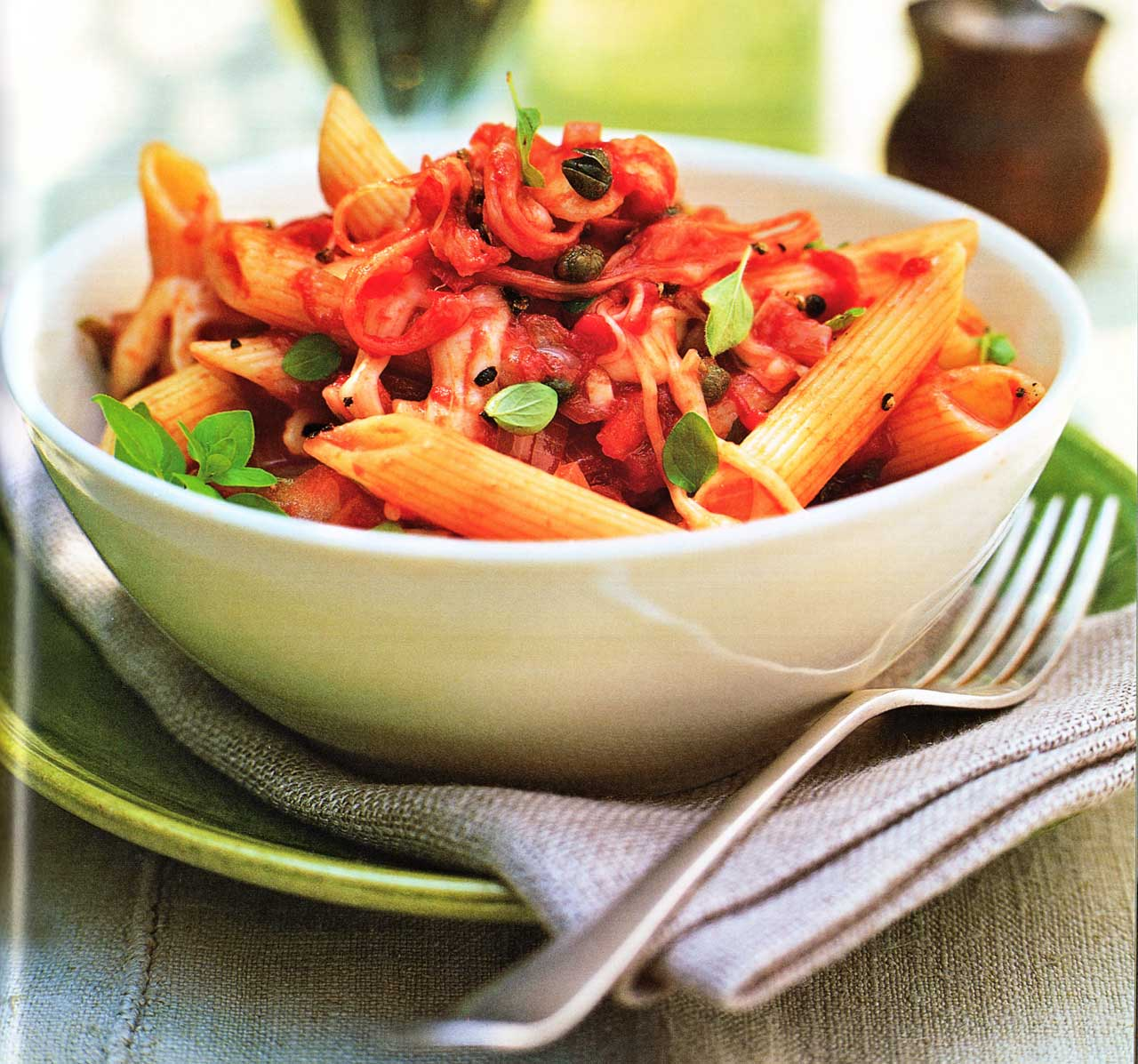 Easy Pasta Recipe-Penne With Mozzarella And Tomatoes www.eatopic.com