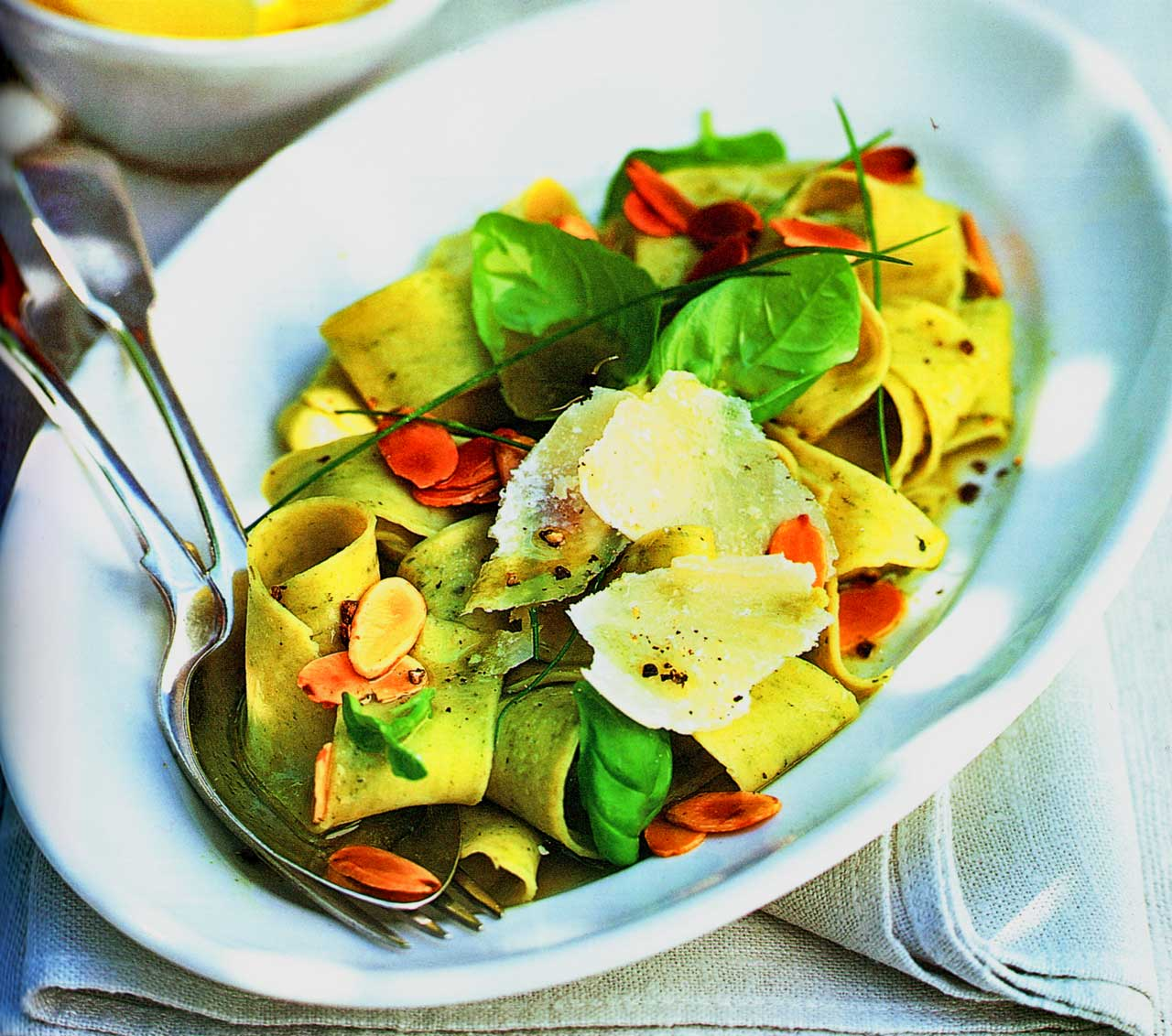 Pappardelle With Basil Oil-Italian easy pasta recipes www.eatopic.com