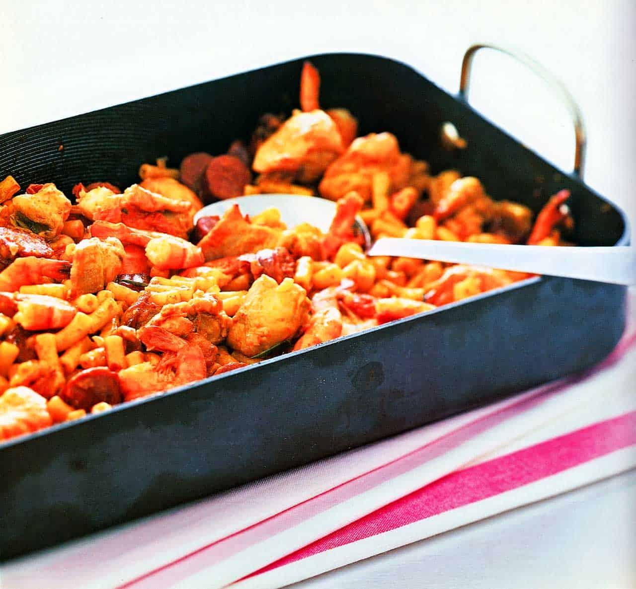 easy pasta bakes-spicy macaroni recipe-roasted pepper pasta
