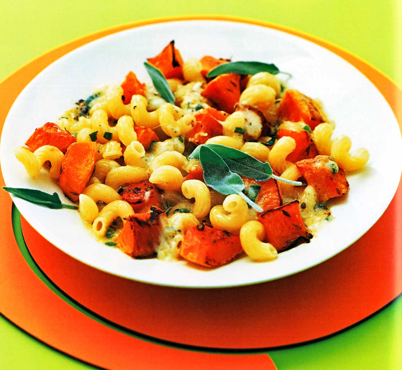 Pasta Recipe-Roasted Pumpkin With Sage, Lemon And Mozzarella Butter