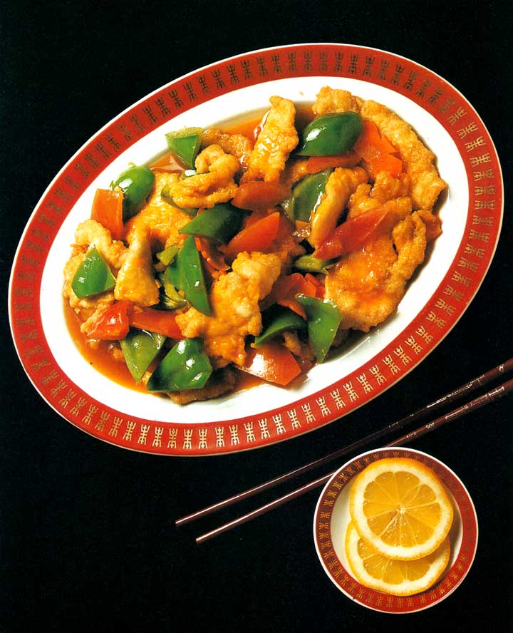 Chinese Cuisine-Deep-Fried Chicken with Lemon Slices Recipe-calories-Easy Homemade-nutrition-www.eatopic.com