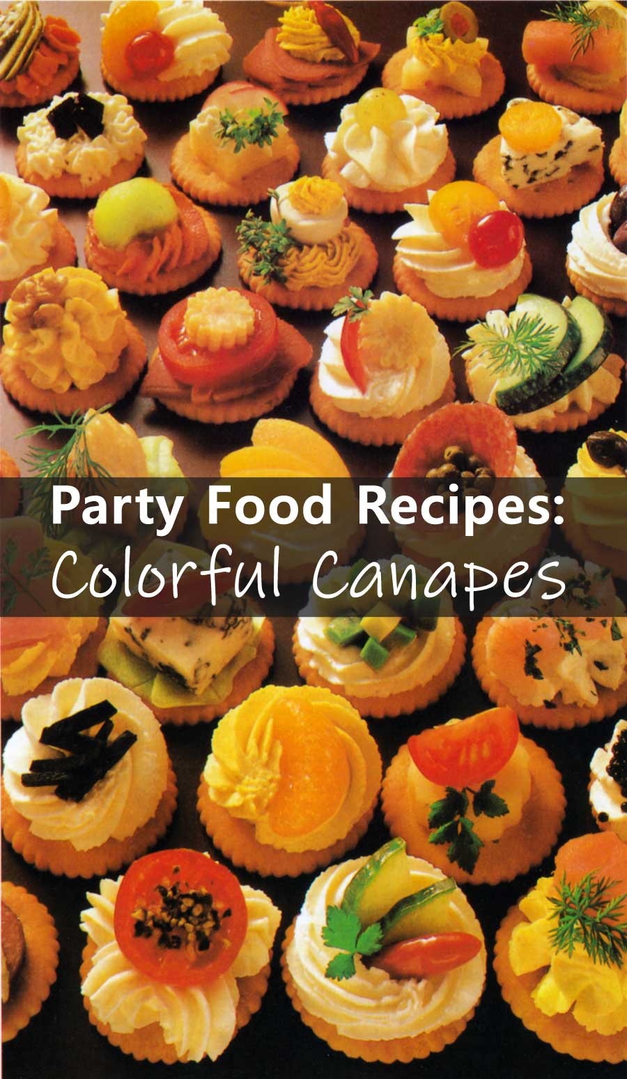 Party Food Recipes-Colorful Canapes-healthy snacks-calories-easy party food recipe ideas