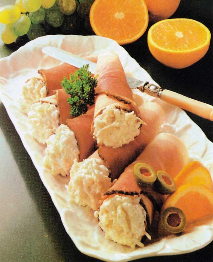 Party Food Recipes-Ham Rolls with Horseradish Cream-healthy snacks-easy party food recipe ideas
