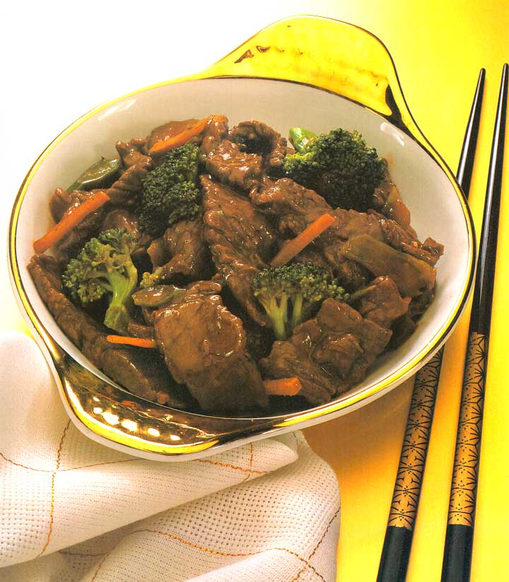 Beef with Broccoli-Chinese Food Recipes-protein-carbs-calories