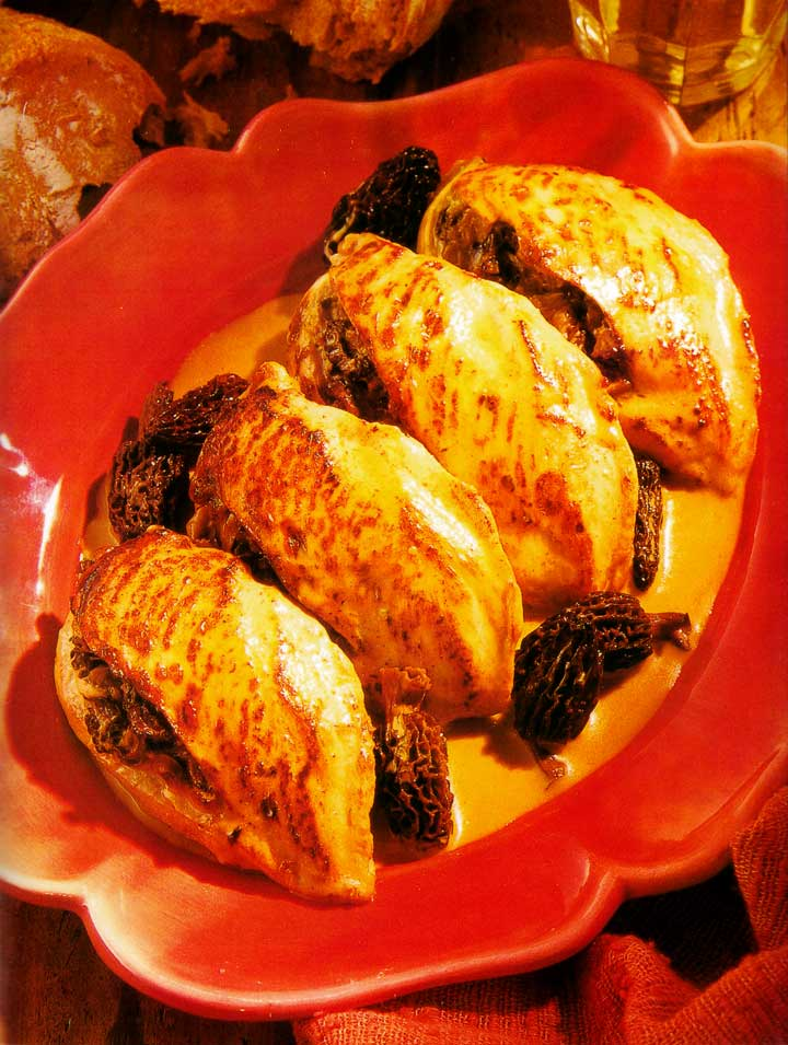 Chicken with Morels Recipe-Mediterranean Foods-Homemade-protein-www.eatopic.com