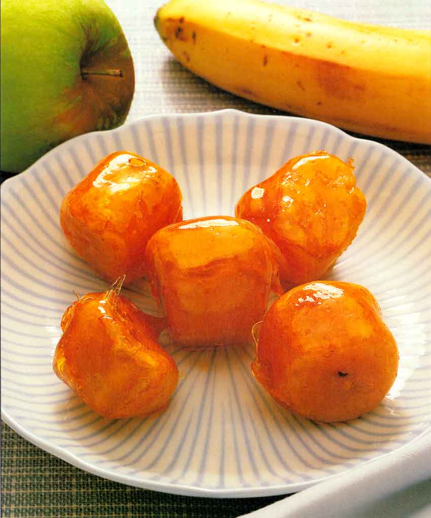 Chinese Dessert Recipes-Spun Fruits-calories-Homemade-nutrition-banana Dessert
