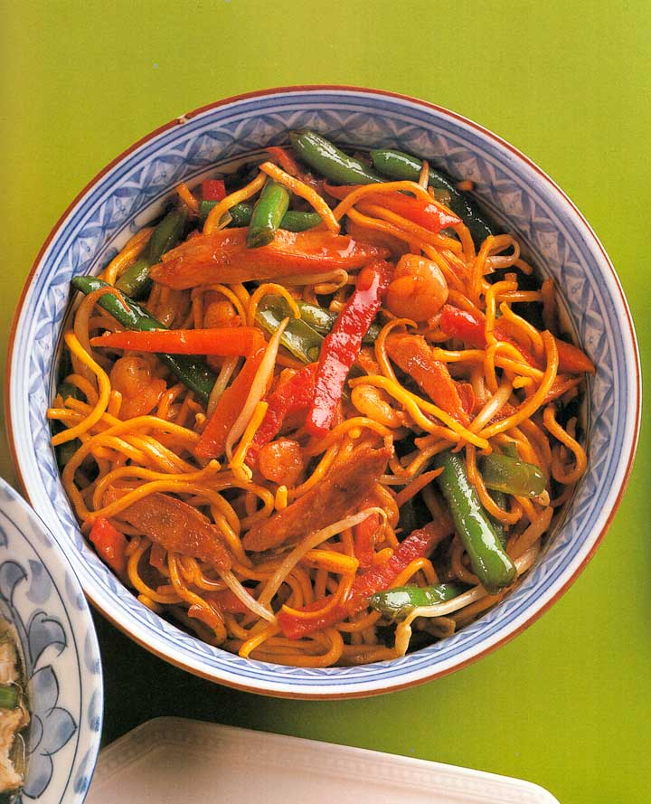 Meat and Shrimp Chow Mein Recipe-carbs-recipes with meat-nutrition