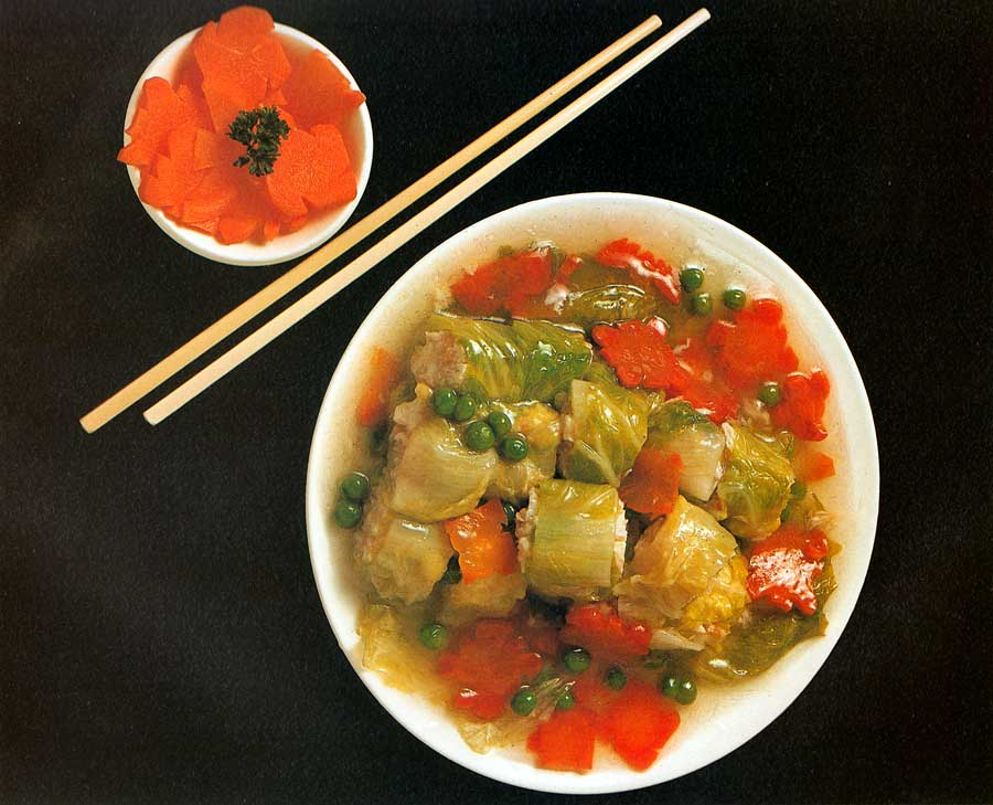 Steamed Cabbage Rolls with Fish and Crab-Meat-calories-Homemade-protein-chinese food