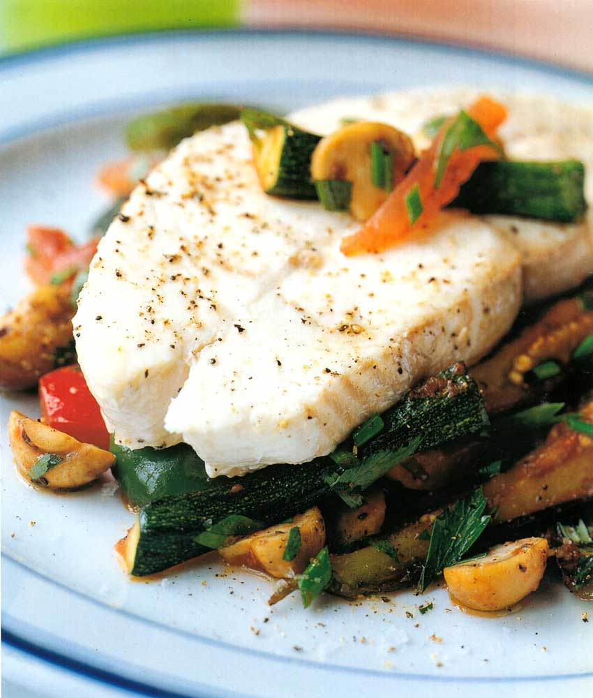Halibut-on-a-Bed-of-Vegetables-Recipe-easy-seafood-calories-and-nutrition-facts
