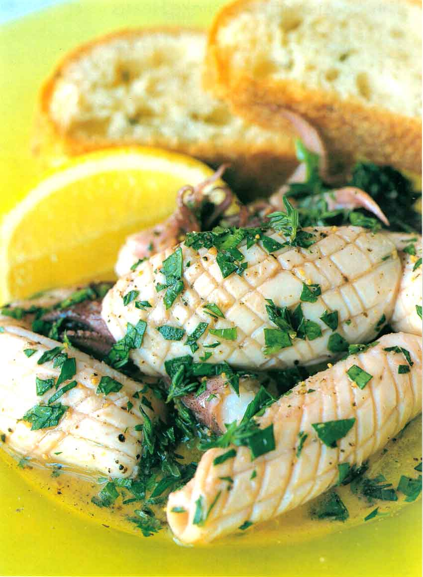 Squid-with-Herbs-Easy-Fish-Recipes-calories-and-nutrition-facts-eatopic
