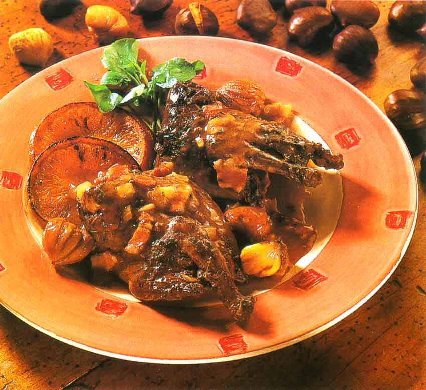 Wood Pigeon and Chestnut Casserole With Port-calories-nutrition