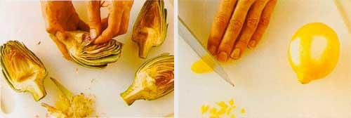 Charred-Artichokes-with-Lemon-Oil-Dip-sauce-recipe-steps