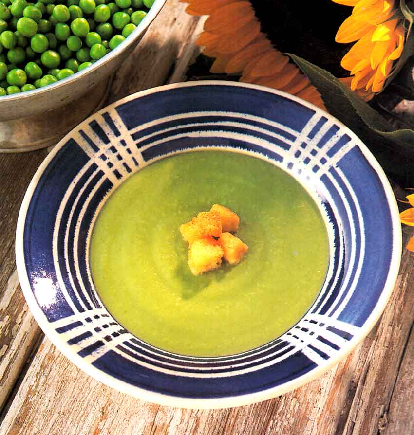 Fresh Pea Soup Recipe Potage Saint-Germain-french food-calories- nutrition facts-french cuisine recipes