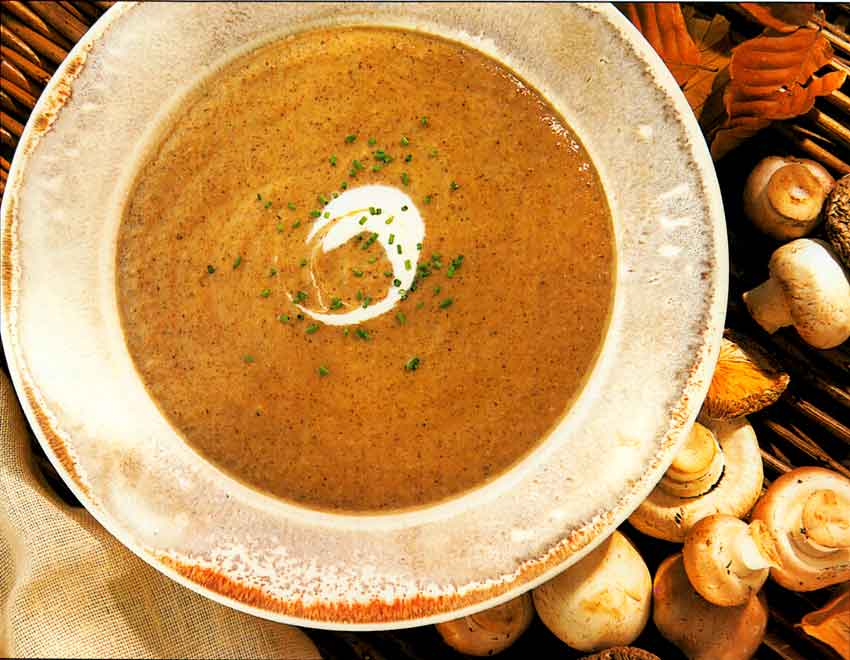 Wild Mushroom Soup-Velouté de Champignons Sauvages-calories-french cooking-nutrition-french foods