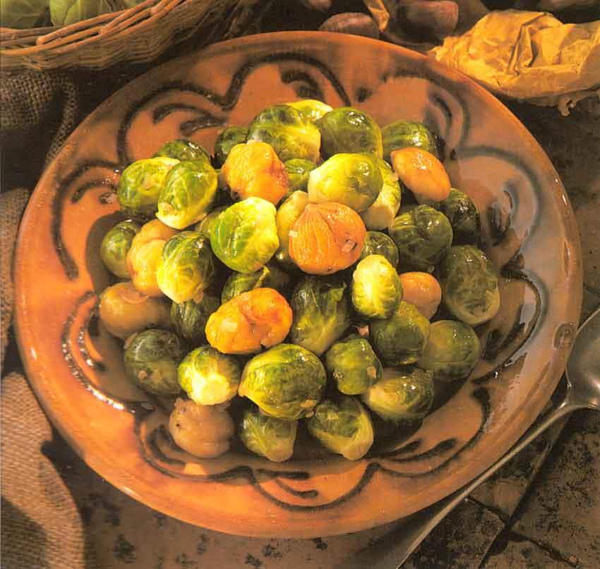 French Recipe-Festive Brussels Sprouts (Choux de Bruxelles Braisées) calories-nutrition facts