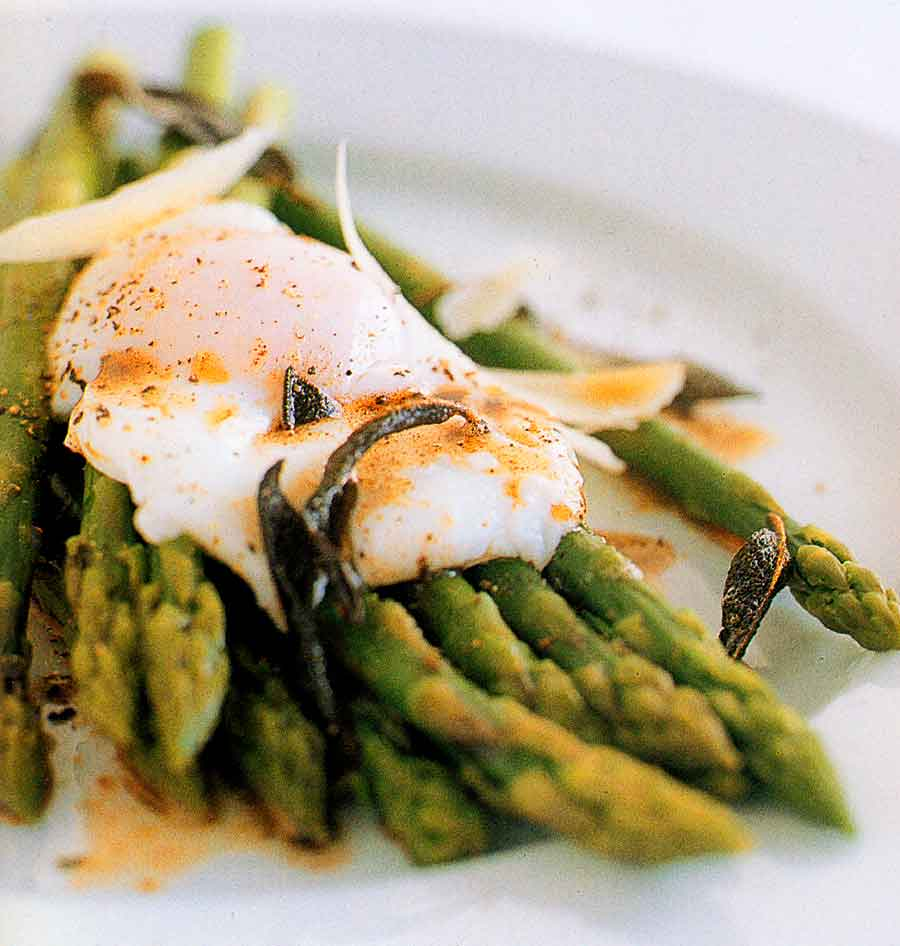 Asparagus and poached eggs with brown butter-calories-nutrition facts