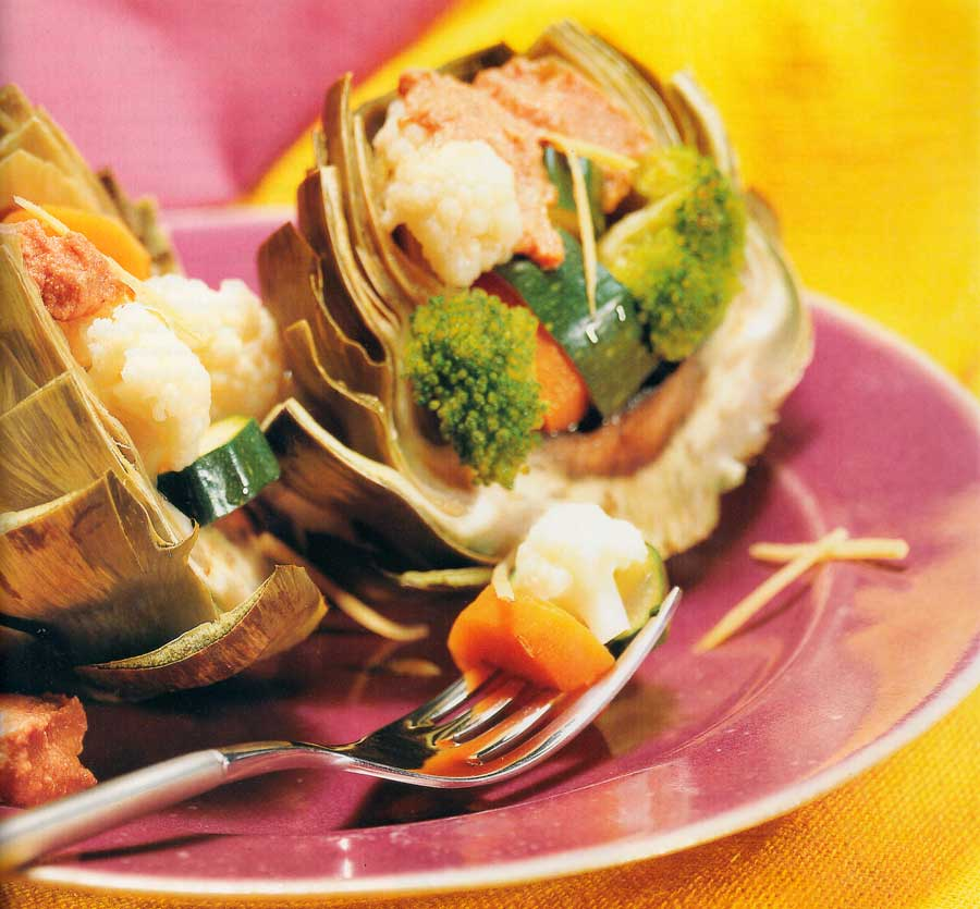 Chilled Stuffed Artichokes Recipe-Low Fat-calories-nutrition facts