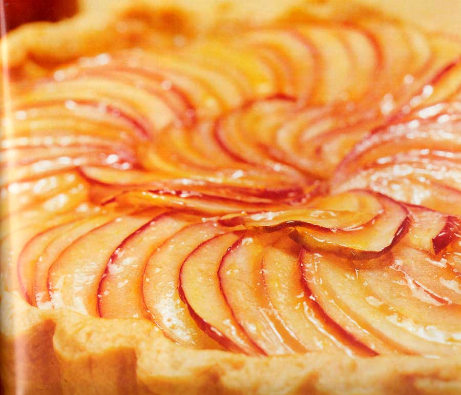 French Apple Flan Recipe-Low Fat dessert-calories-nutrition facts