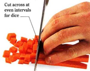 How to Dice Vegetables step by step with photo