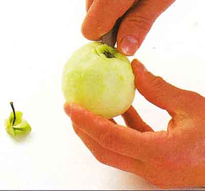 How to Halve and Core an Apple-tips-step by step with photo