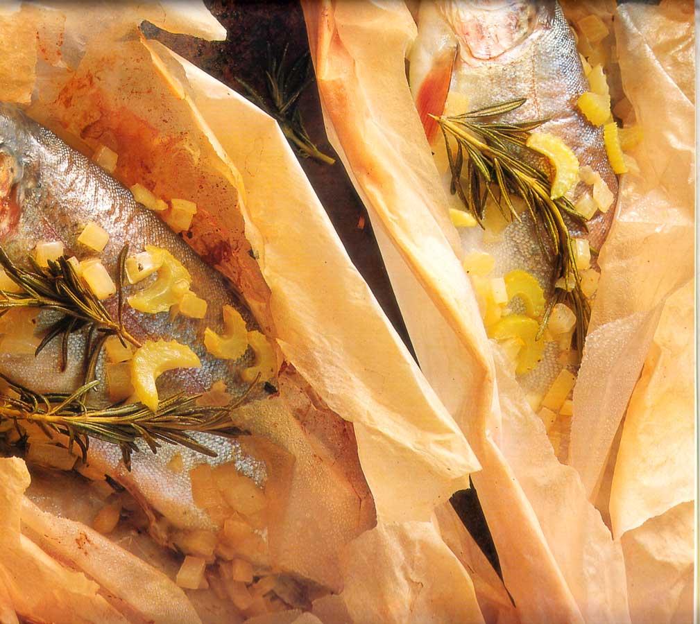Low-Fat: Baked Trout Parcels Recipe