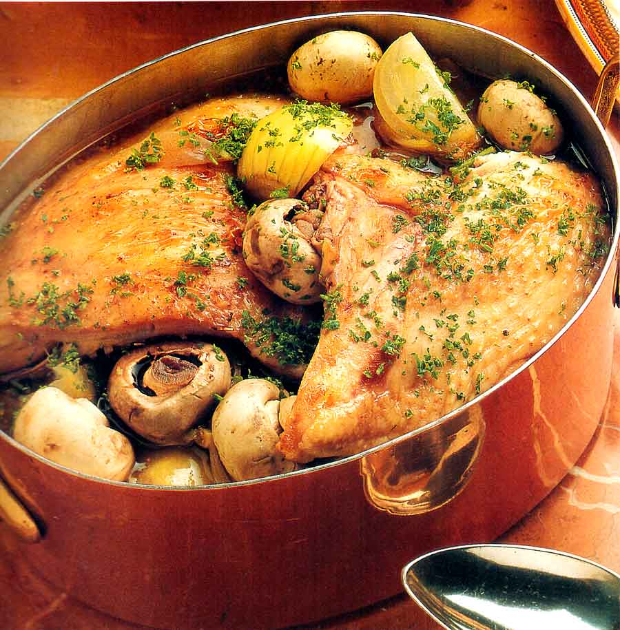 Low Fat-Coq-au-vin-Chicken Recipe-calories-nutrition facts