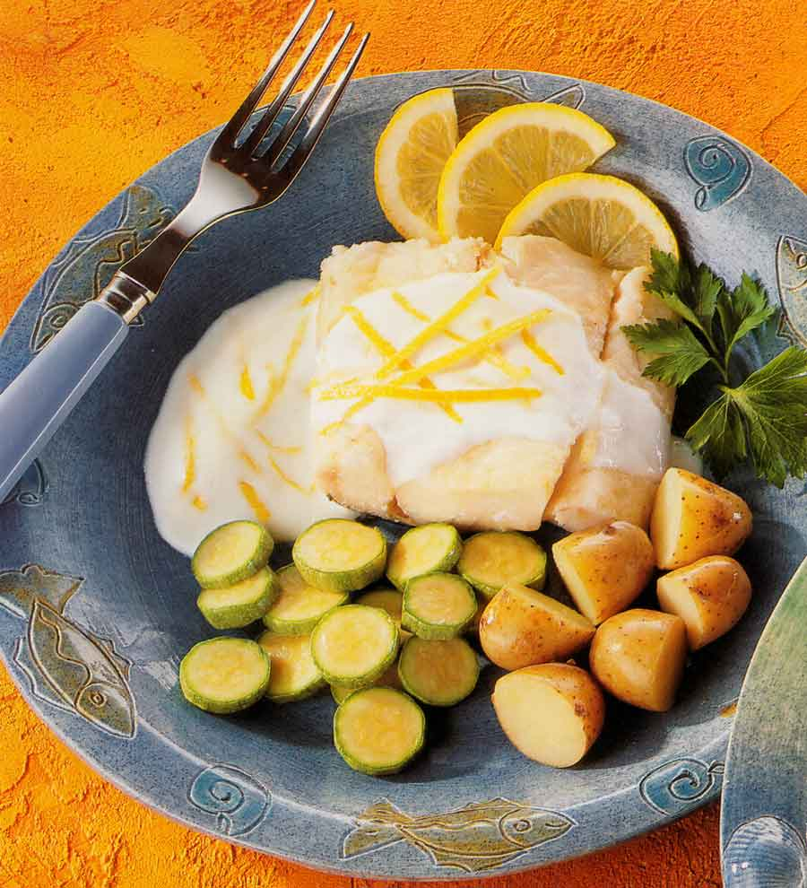 Low Fat Diet-Hoki with Light Lemon Sauce Recipe-calories-nutrition facts-roasted-baked fish recipe