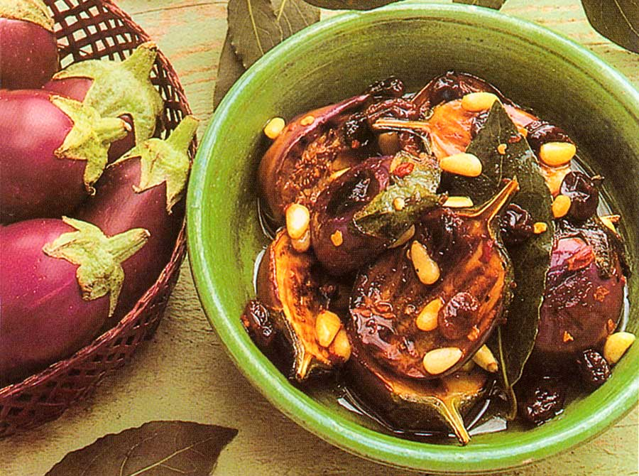 Marinated-Baby-Eggplants-With-Raisins-And-Pine-Nuts-calories-nutrition-facts
