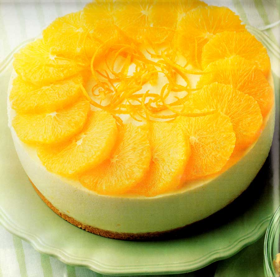 Orange-Diet-Cheesecake-Recipe-Low-Fat-calories-nutrition-facts-fruit-dessert