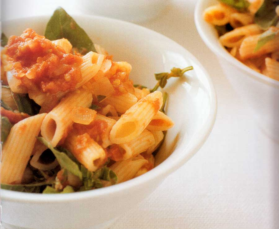 Pasta-with-Roast-Tomato-Sauce-Recipe-calories-nutrition-facts-easy-homemade-recipe