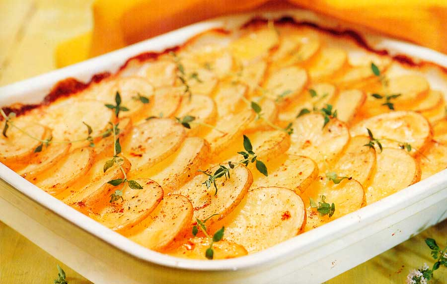 Scalloped Potatoes Recipe-Low Fat-calories-nutrition facts-baked-vegetable