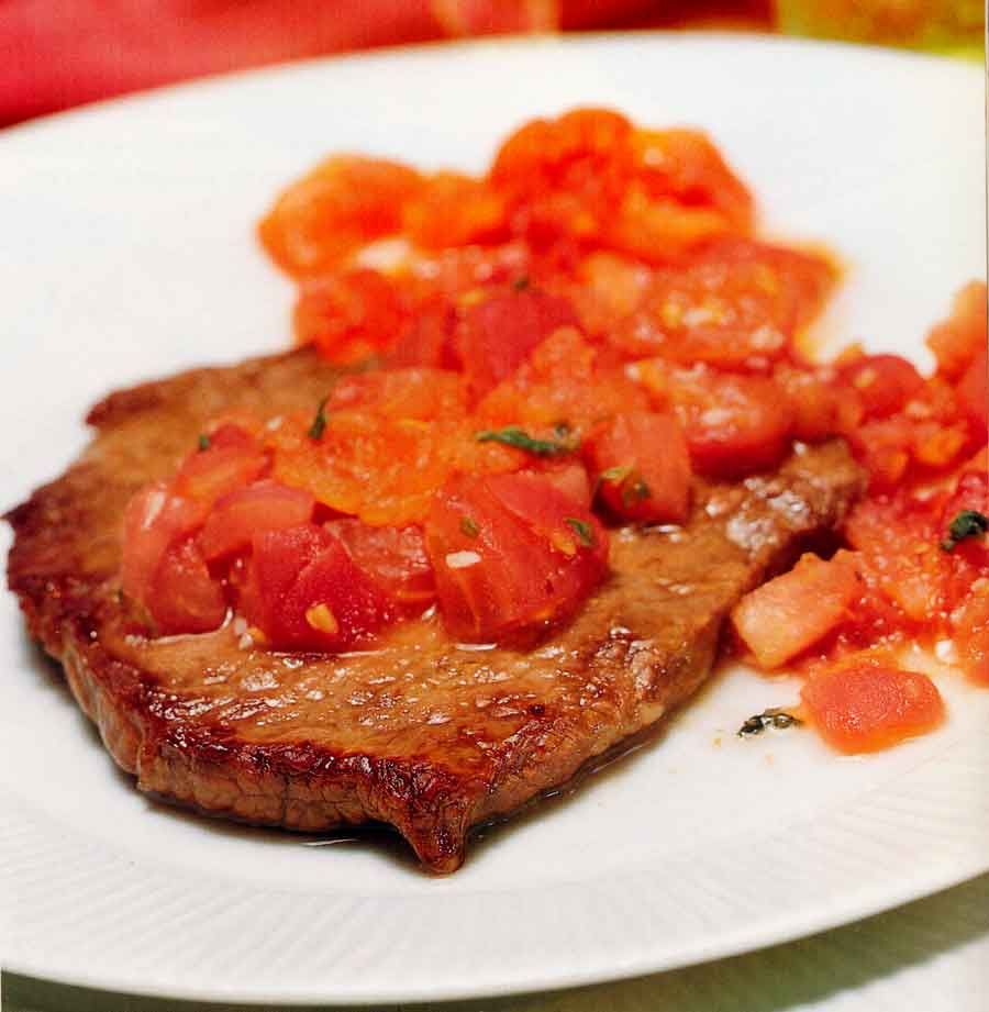 Sirloin Steaks with Tomato-garlic Sauce Recipe-calories-nutrition facts