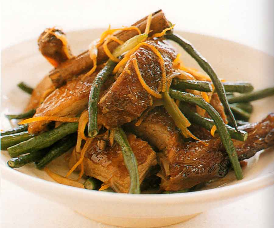 Barbecue Duck and Snake Bean Stir Fry Recipe-calories-nutrition facts