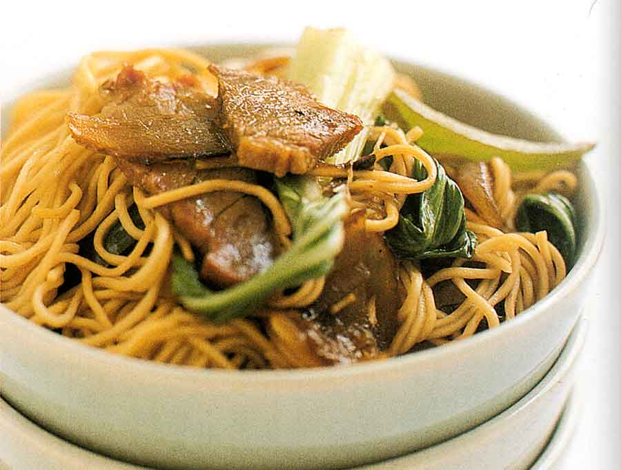 Egg Noodles with Chinese Barbecue Pork-calories-nutrition facts-asian cuisine