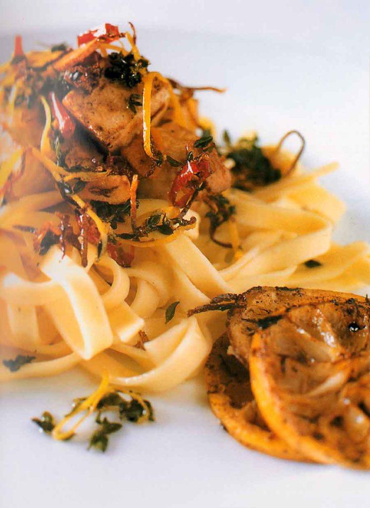 Fettuccine with Lemon Swordfish Recipe-calories-nutrition-facts