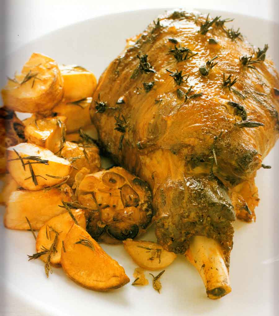Garlic-and-Rosemary-Studded-Lamb-Recipe-calories-step-by-step-with-photo