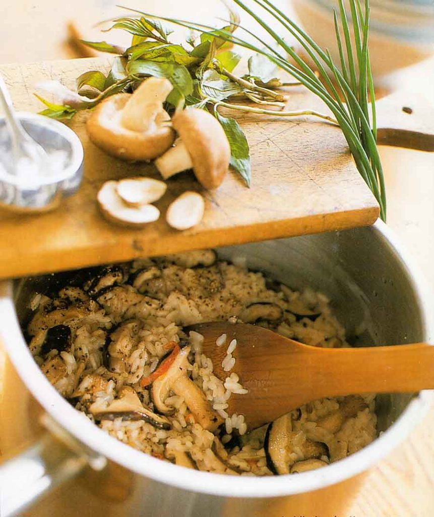 Miso and Shiitake Risotto Recipe-calories-nutrition facts-recipematic-mushroom