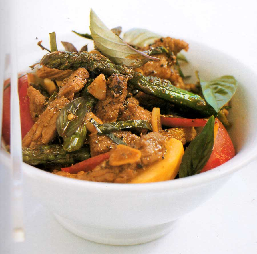 Pork, Basil and Pepper Stir Fry Recipe-calories-nutrition facts