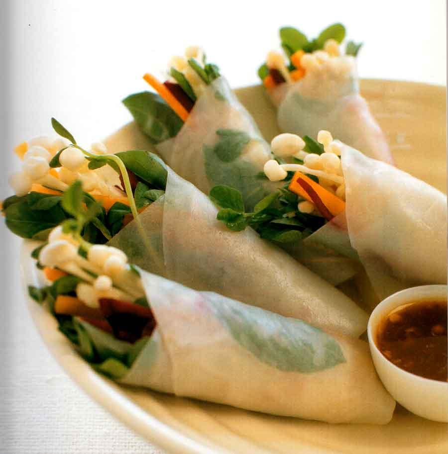 Rice Paper Rolls Recipe-calories-nutrition facts-diet-vegetarian-vegetable