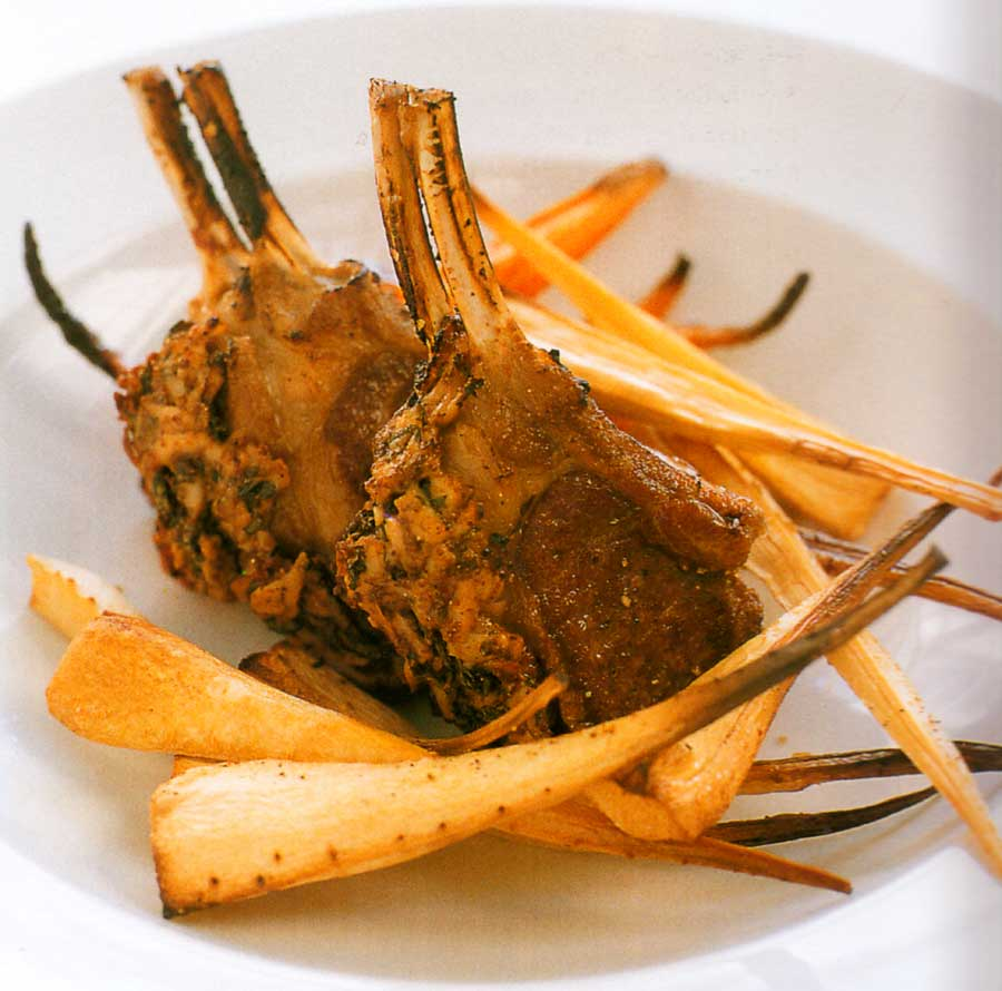 Slow-roasted Double Lamb Cutlets Recipe-calories-nutrition facts-meat-high protein