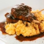 Soft Polenta with Wine Lamb Recipe-calories-nutrition-low fat-meat