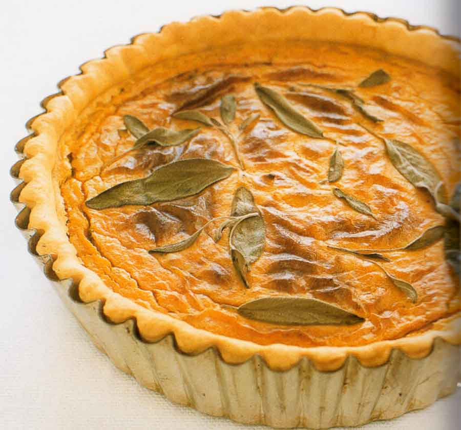Sweet Potato and Sage Tart Recipe-calories-vegetarian-nutrition facts
