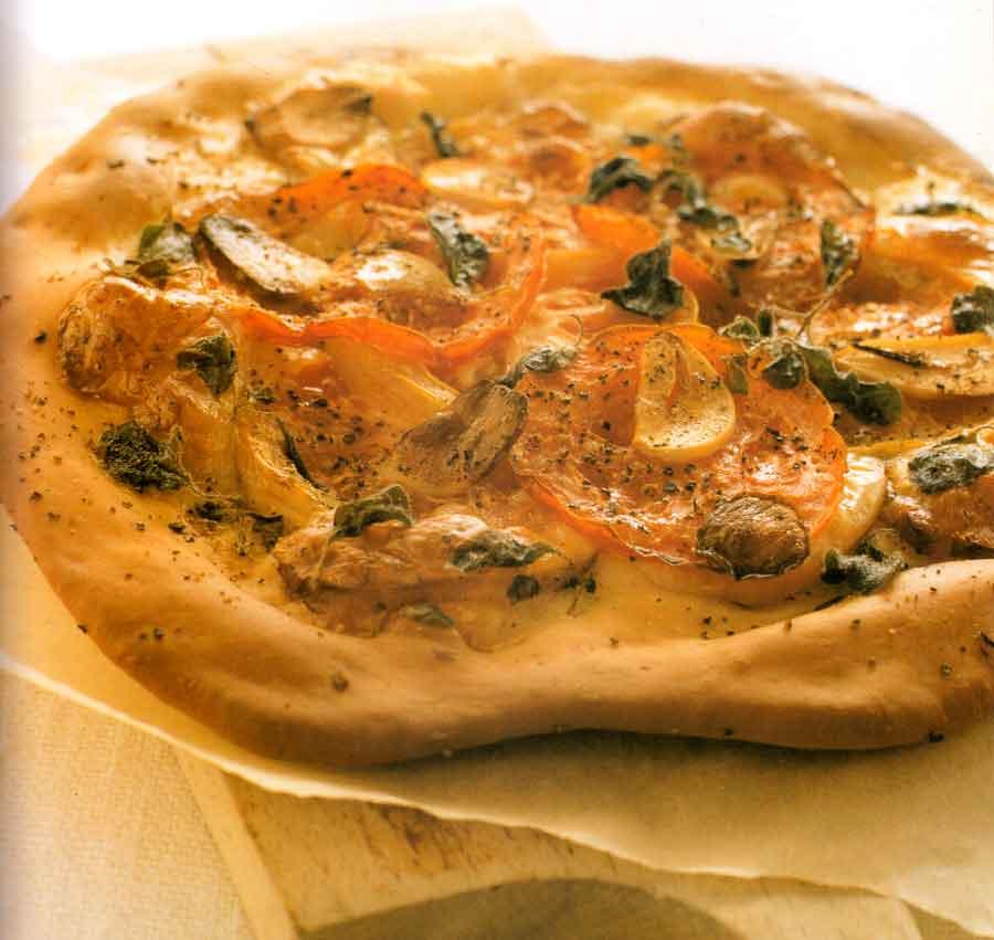Tomato, Smoked Mozzarella and Oregano Pizza-calories-nutrition facts-easy-homemade