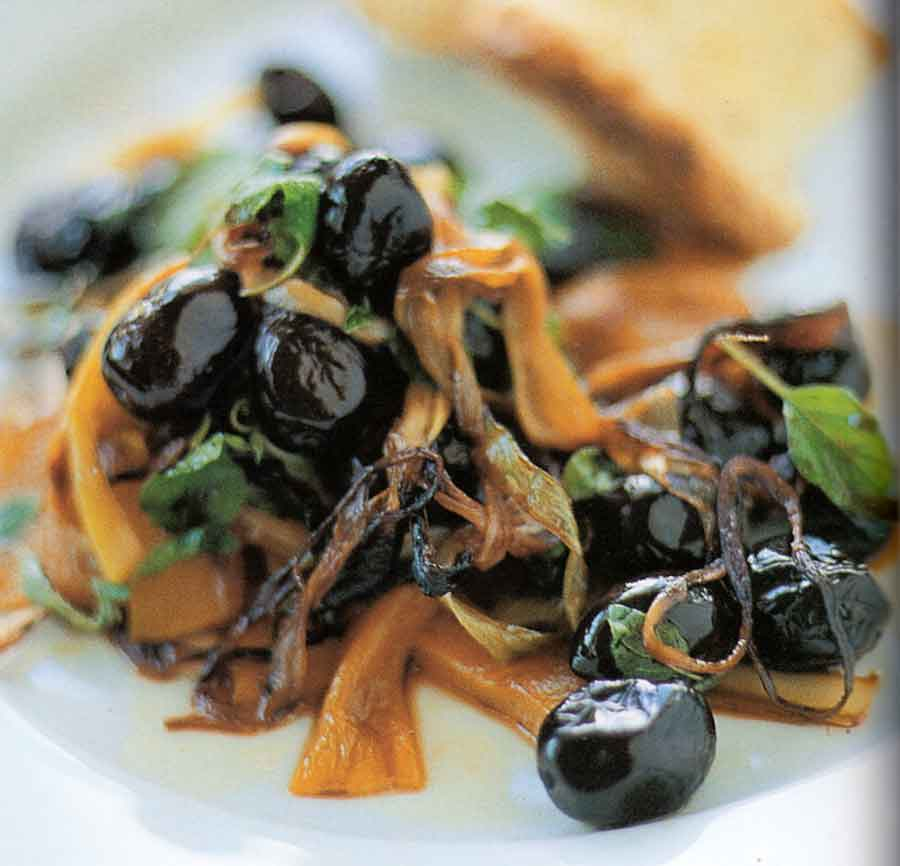 Warm Salad of Sauteed Black Olives Recipe-calories-nutrition facts-easy-diet