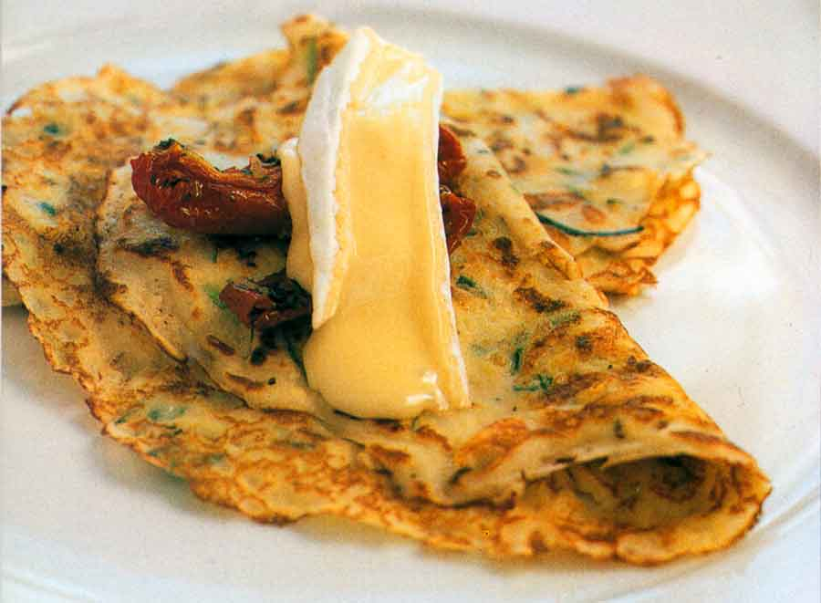 Zucchini Pancakes with Double Brie Recipe-calories-vegetable-nutrition facts-breakfast-recipematic